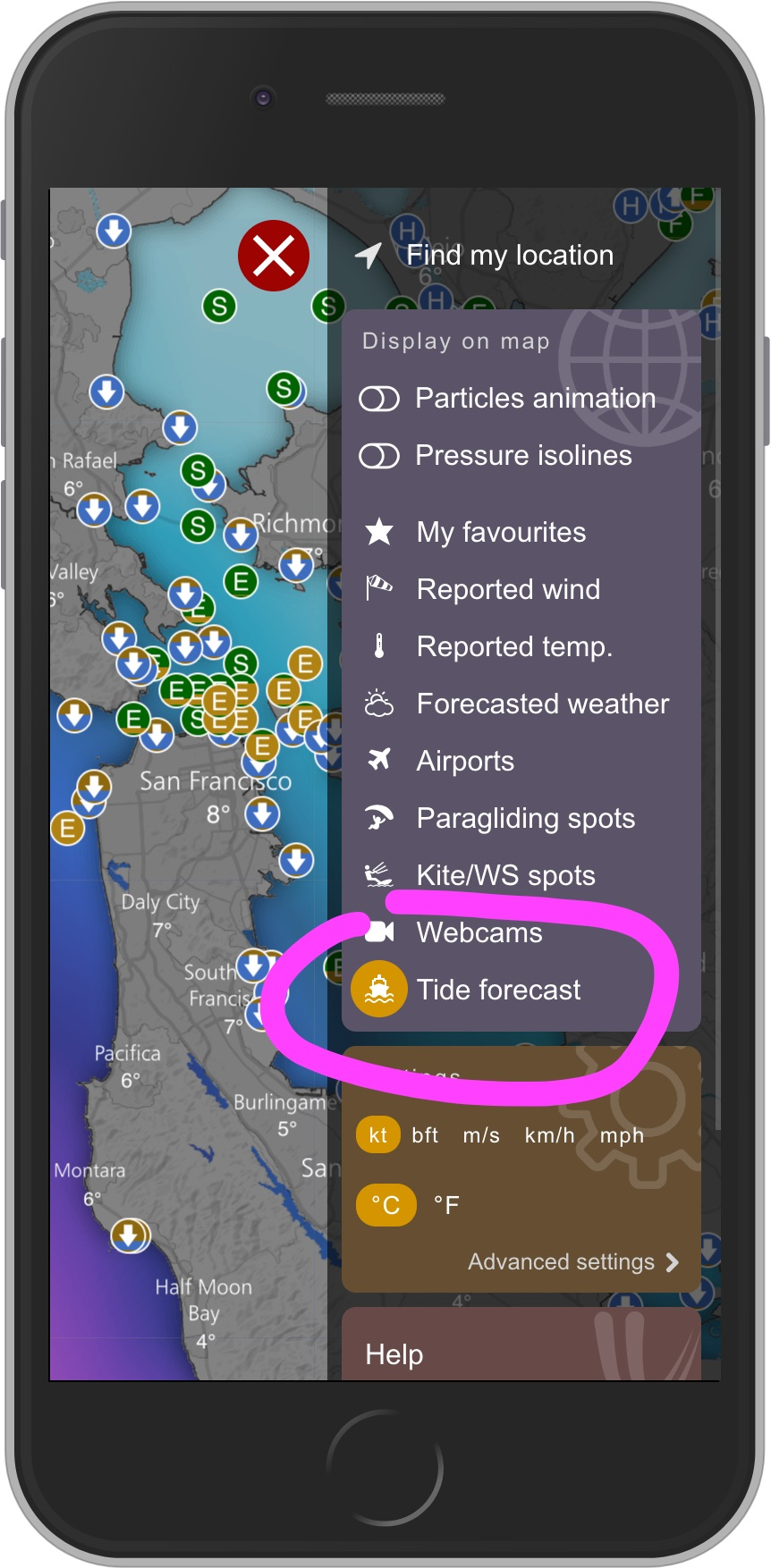 Tide forecast on windy windy community beware tides can be forecasted only at certain tide stations where measurement has been made some fraudulent mobile apps try to convince you nvjuhfo Image collections