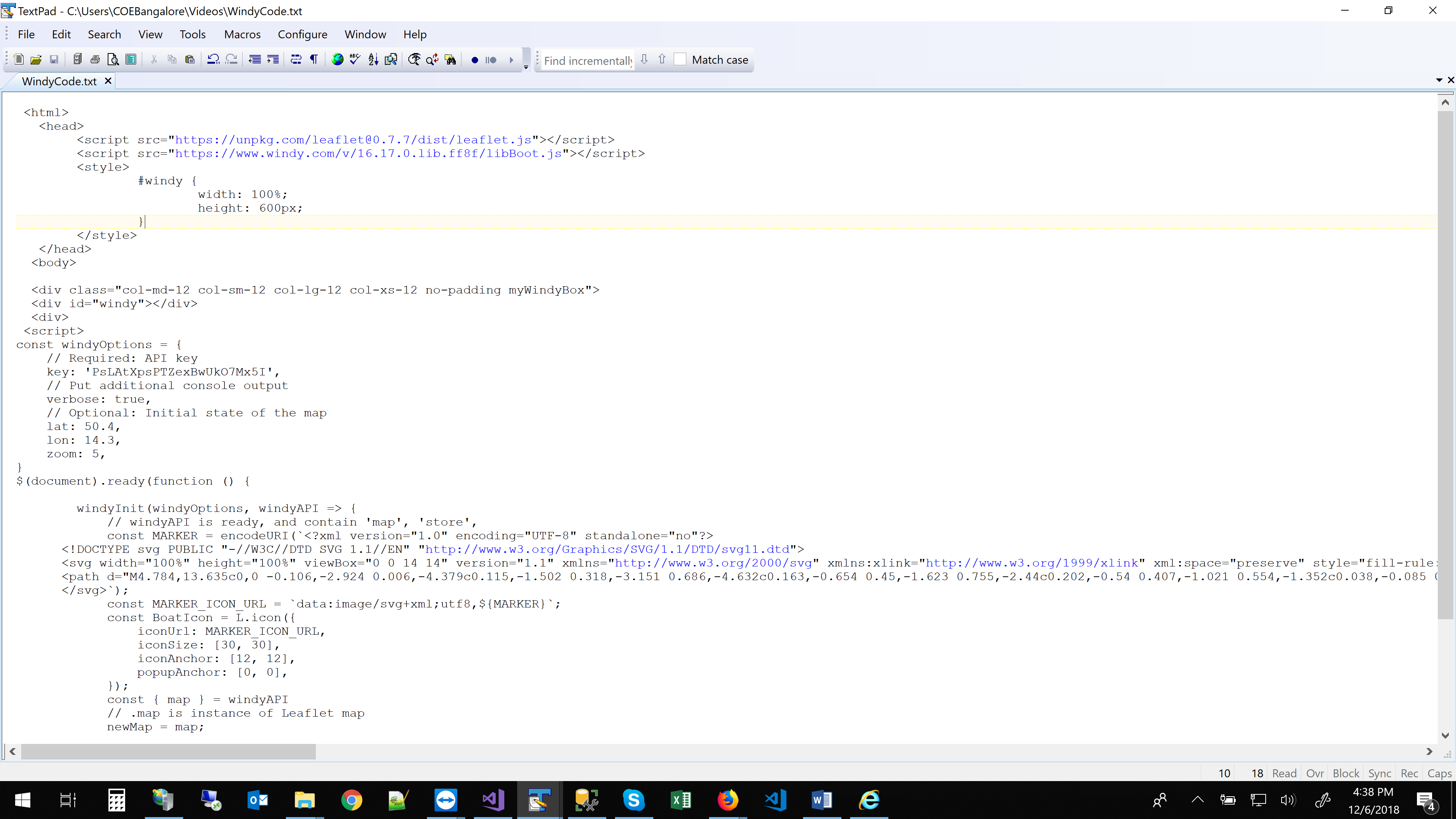 Windy API V4 not Working in IE11 @ Windy Community